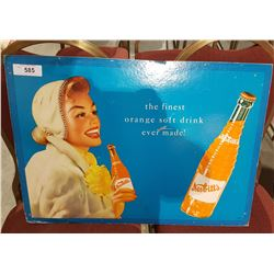 VINTAGE NESBITT SODA CARDBOARD ADVERTISEMENT