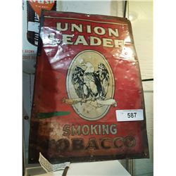 VINTAGE UNION LEADER TOBACCO SIGN