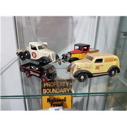 FOUR COLLECTIBLE DIE CAST VEHICLES