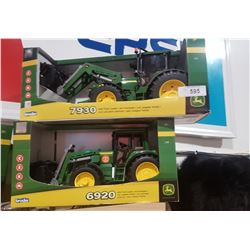TWO NIB JOHN DEERE TOY TRACTORS