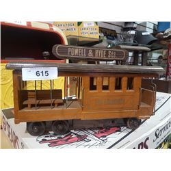 WOODEN SAN FRANCISCO TROLLEY CAR