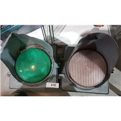 TWO ORIGINAL TRAFFIC LIGHTS