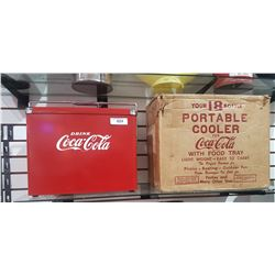 VINTAGE PORTABLE COCA COLA COOLER W/ORIGINAL BOX