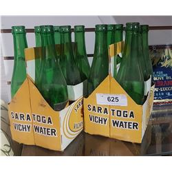 TWO VINTAGE SARATOGA VICHY WATER SIX PACKS