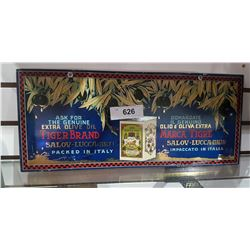 VINTAGE TIGER BRAND OLIVE OIL SIGN