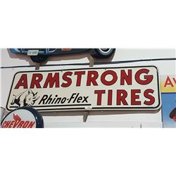 VINTAGE ARMSTRONG TIRES SIGN