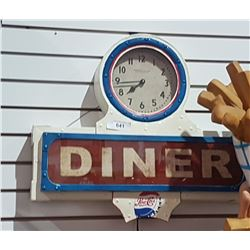 CUSTOM PEPSI COLA DINER CLOCK