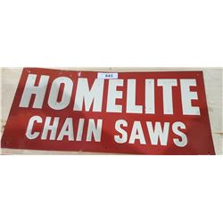 VINTAGE HOMELITE CHAINSAW SIGN
