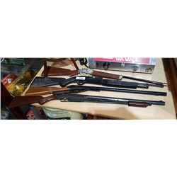 FOUR VINTAGE BB RIFLES