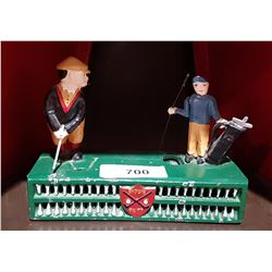 CAST IRON TOY BANK GOLF
