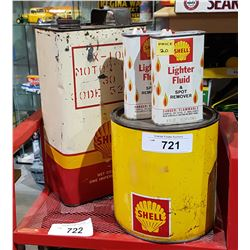 FOUR VINTAGE SHELL OIL PRODUCTS