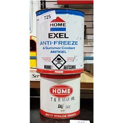 HOME ANTIFREEZE CAN AND HOME GEAR OIL CAN