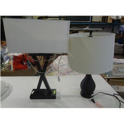 Wooden Lamp in the shape of an X