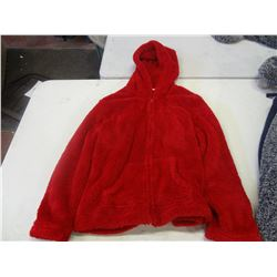 New Size Large Red Fuzzy Hoodie