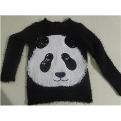 New 6x Fuzzy Panda Sweater