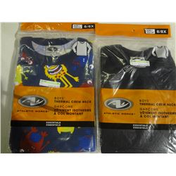 New Lot of 2 Boys size 6/6x  Thermal Crew Neck Shirts