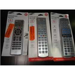 3 Universal Remotes