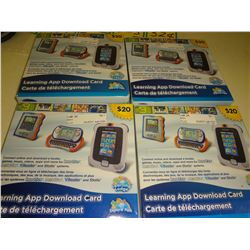Lot of 4 Innotab $20 Download cards $80.00 retail value