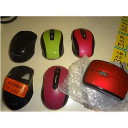 6 New Mice no boxes (all have dongles)