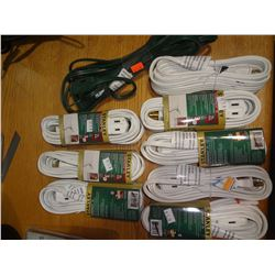9 New Extension Cords