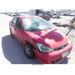2000 - FORD FOCUS // SALVAGE TITLE