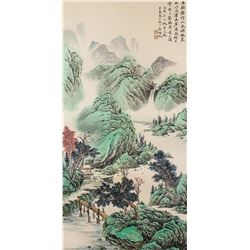 Wu Hufan 1894-1968 Chinese Watercolour Lanscape