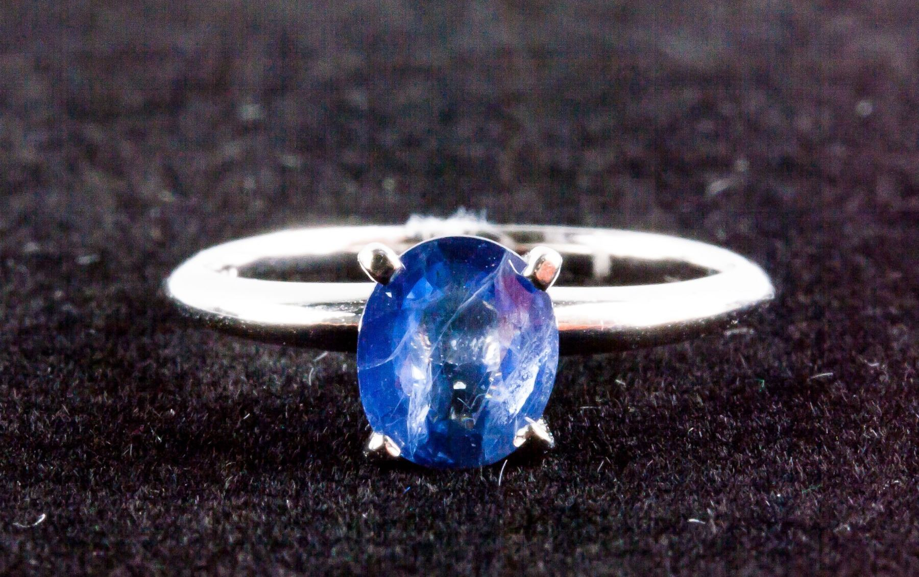 sapphire diamond products solitaire front edv dv w ring r