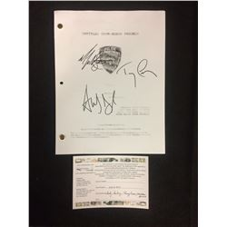 "UNTITLED GOOR-SCHUR PROJECT ""PILOT"" TRIPLE AUTOGRAPHED DRAFT BY TERRY CREWS, RYAN SANDBERG"