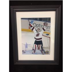 "MARTIN BRODEUR AUTOGRAPHED 11"" X 14"" FRAMED PHOTO (NEW JERSEY DEVILS)"