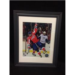 "ALEXANDER OVECHKIN AUTOGRAPHED 11"" X 14"" FRAMED PHOTO (WASHINGTON CAPITALS)"