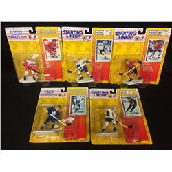 COLLECTIBLE STARTING LINE UP HOCKEY FIGURES LOT