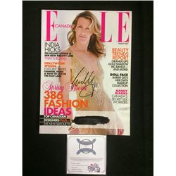 INDIA HICKS AUTOGRAPHED ELLE MAGAZINE W/ COA