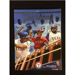YU DARVISH AUTOGRAPHED TEXAS RANGERS 25TH ANNIVERSARY YEARBOOK (2014)