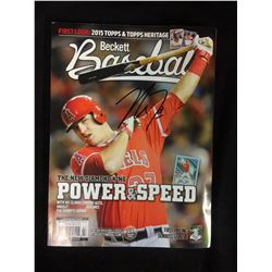 MIKE TROUT AUTOGRAPHED BECKETT BASEBALL MAGAZINE  (2014)