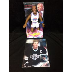 "12"" MICHAEL JORDAN SPACE JAM NEW IN BOX & WAYNE GRETZKY #1 BECKETT"