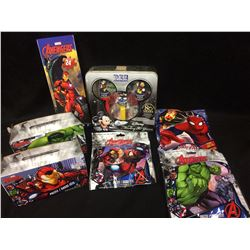 AVENGERS PUZZLES & PEZ DISPENSER LOT
