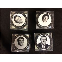 1972 SUMMIT SERIES TEAM CANADA HOCKEY PUCKS LOT