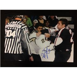 "MILAN LUCIC AUTOGRAPHED 14"" X 18"" PHOTO (VANCOUVER GIANTS CAHRITY ORGANIZATION)"