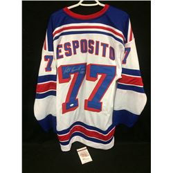 PHIL ESPOSITO AUTOGRAPHED RANGERS JERSEY (JSA COA)