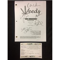 "WEEDS ""LUDE AWAKENING"" EPISODE #1005 AUTOGRAPHED BY MARY LOUISE PARKER, KEVIN NEALON, ROMAN MALCO"