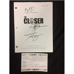 THE CLOSER DRAFTY EPISODE #3 AUTOGRAPHED BY J.K SIMMONS, KYRA SEDGWICK & JON TENNEY