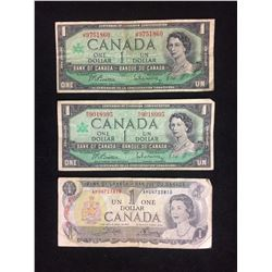 CANADIAN ONE DOLLAR BANK NOTES LOT (1967, 1973)