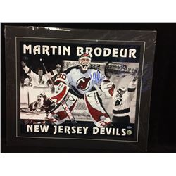 """MARTIN BRODEUR AUTOGRAPHED 20"""" X 24"""" MATTED PHOTO W/ STEINER COA"""