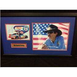 "RICHARD PETTY AUTOGRAPHED 30"" X 24"" FRAMED DISPLAY (JSA COA)"