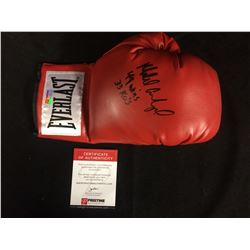 MICAEL CARBAJAL AUTOGRAPHED EVERLAST BOXING GLOVE W/ INSCRIPTIONS INCLUDES COA