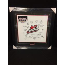"2012 SUBWAY SERIES TEAM WHL FRAMED 24"" X 28"" JERSEY FRONT AUTOGRAPHED BY TEAM PLAYERS"