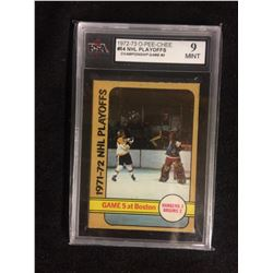1972-73 O-PEE-CHEE #54 NHL PLAYOFFS CHAMPIONSHIP GAME #5 (9 MINT) KSA