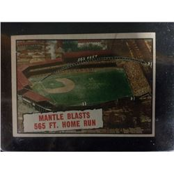 1961 Mantle Blasts 565 Ft. Home Run Topps Baseball Card #406