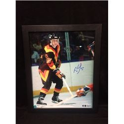 "CAM NEELY AUTOGRAPHED 16"" X 20"" FRAMED PHOTO (AJ SPORTS COA)"