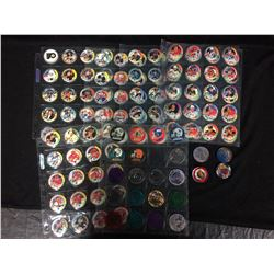 COLLECTIBLE SPORTS POGS LOT